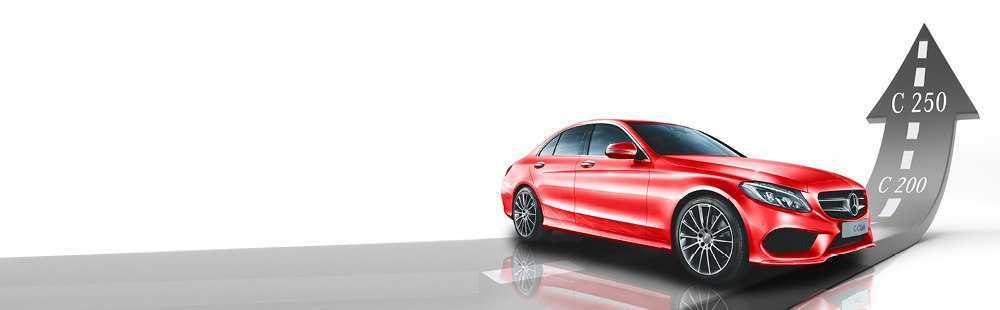 C 200 to C 250 for no extra cost. Exclusive to Mercedes-Benz Toowong this July.