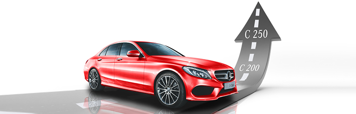 C 200 to C 250 for no extra cost. Exclusive to Mercedes-Benz Macgregor this July.